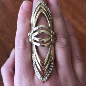 BCBG armor hinged ring Size 6